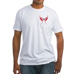 Square and Red Dragons Fitted T-Shirt