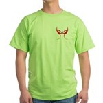 Square and Red Dragons Green T-Shirt