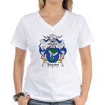 Tenreiro Family Crest Women's V-Neck T-Shirt