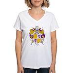 Teles Family Crest Women's V-Neck T-Shirt