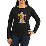Teles Family Crest Women's Long Sleeve Dark T-Shir