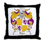 Teles Family Crest Throw Pillow