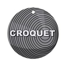 Croquet Ornament (Round)