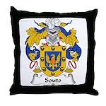 Souto Family Crest Throw Pillow