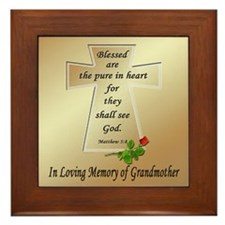 In Loving Memory of Grandmother Framed Tile