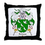 Seixas Family Crest Throw Pillow