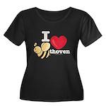 I Love Beethoven Women's Plus Size Scoop Neck Tee
