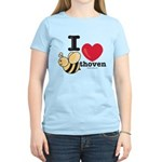 I Love Beethoven Women's Pink T-Shirt