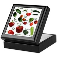 Chili Peppers Keepsake Box