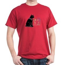 Cat Bastet & Egyptian Hieroglyphics T-Shirt