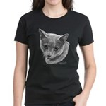 Russian Blue Cat Women's Dark T-Shirt
