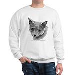 Russian Blue Cat Sweatshirt