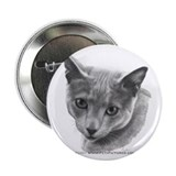 "Russian Blue Cat 2.25"" Button (100 pack)"