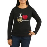 I Love BEEthoven Women's Long Sleeve Black T-Shirt