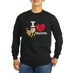 I Love BEEthoven Long Sleeve Black T-Shirt
