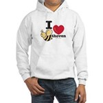 I Love Beethoven Hooded Sweatshirt