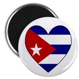 "Cuban Flag Heart 2.25"" Magnet (10 pack)"