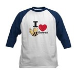 I Love BEEthoven Kids Blue Baseball Jersey