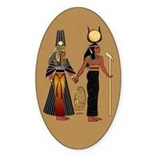 Isis and Nefertiri Oval Decal