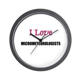 I Love MICROMETEOROLOGISTS Wall Clock