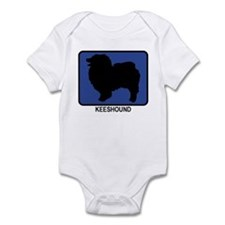 Keeshound (blue) Infant Bodysuit