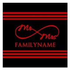 Infinity Mr and Mrs Persona 5.25 x 5.25 Flat Cards
