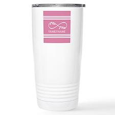 Pink Infinity Mr and Mr Travel Mug
