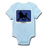 Poodle (blue) Infant Bodysuit