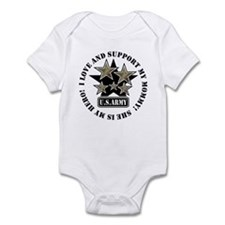 Kids Army Love Support Mommy Hero Infant Creeper