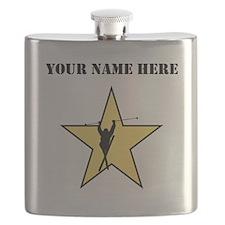 Skiing Star (Custom) Flask