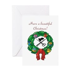 Beautician Christmas Greeting Card