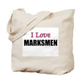 I Love MARKSMEN Tote Bag