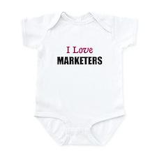 I Love MARKETERS Infant Bodysuit