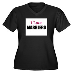 I Love MARBLERS Women's Plus Size V-Neck Dark T-Sh