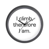 I Climb Therefore I Am Wall Clock