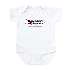 It wasn't me, honest! Infant Bodysuit