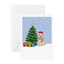 Yellow Lab Holiday Greeting Card