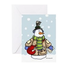 Postal snowman Greeting Cards (Pk of 10)