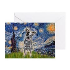 Starry-AussieCattlePup2 Greeting Card