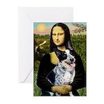 MonaLis-AussieCattleDog Greeting Cards (Pk of 20)