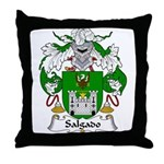 Salgado Family Crest Throw Pillow