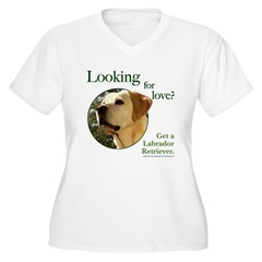 Looking for Love Women's Plus Size V-Neck T-Shirt