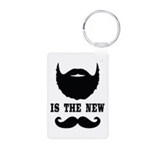 Beard Is New Mustache Keychains