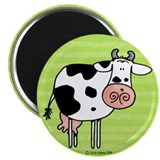 Cow in green Magnet