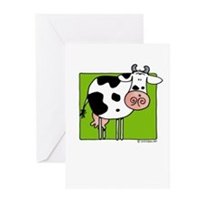 Cow in green Greeting Cards (Pk of 20)