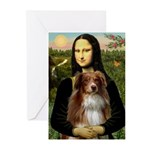 MonaLisa-AussieShep #4 Greeting Cards (Pk of 20)