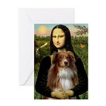 MonaLisa-AussieShep #4 Greeting Card
