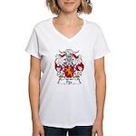 Pita Family Crest Women's V-Neck T-Shirt