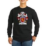 Pita Family Crest Long Sleeve Dark T-Shirt