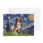 Starry-Aussie Shep #4 Greeting Card